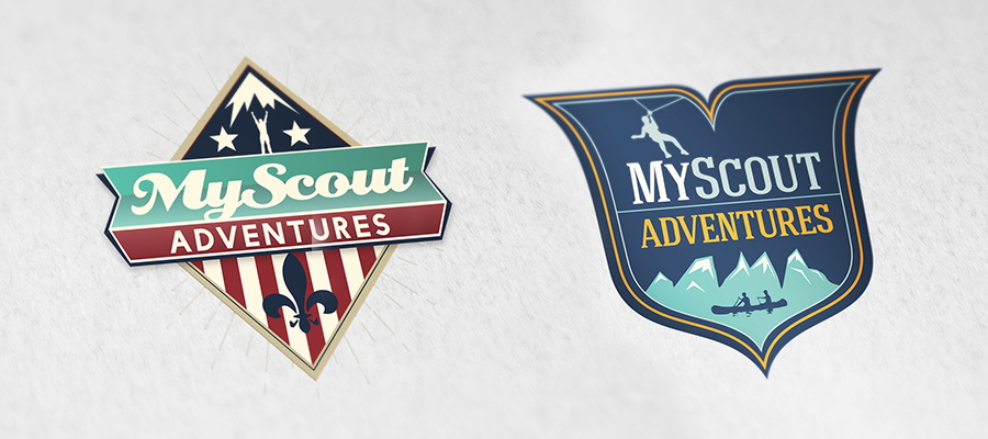 My Scout Adventure logo options